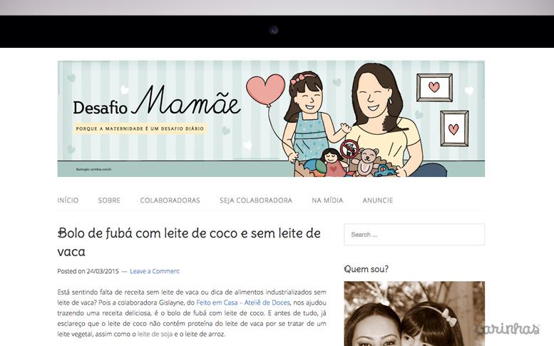 Carinhas para o topo do blog Desafio Mamãe