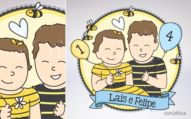 Carinha da Laís e do Felipe