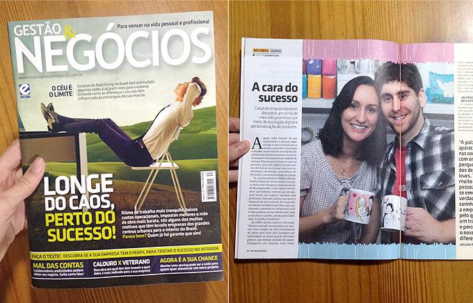 Carinhas na Revista Gestão e Negócios