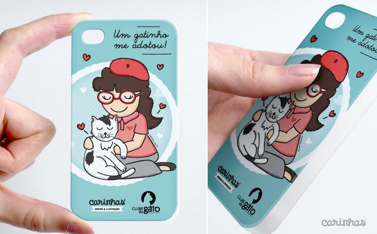 Ilustração Carinhas para o Clube do Gato de Brasília