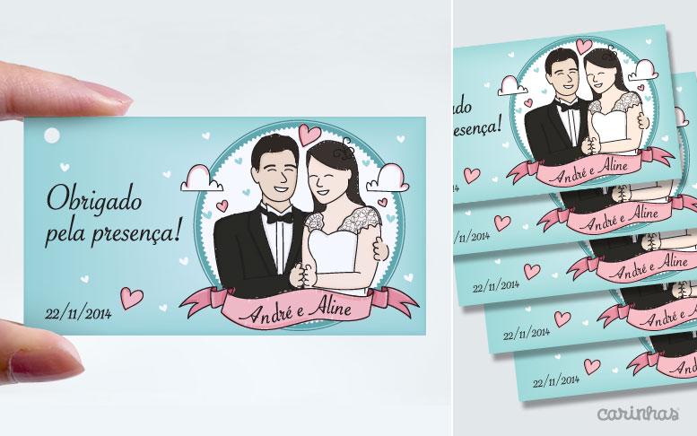 Tag pequeno para bem casados e outros mimos