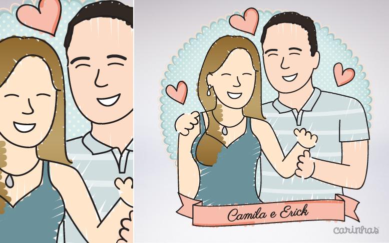 Carinha da Camila e do Erick