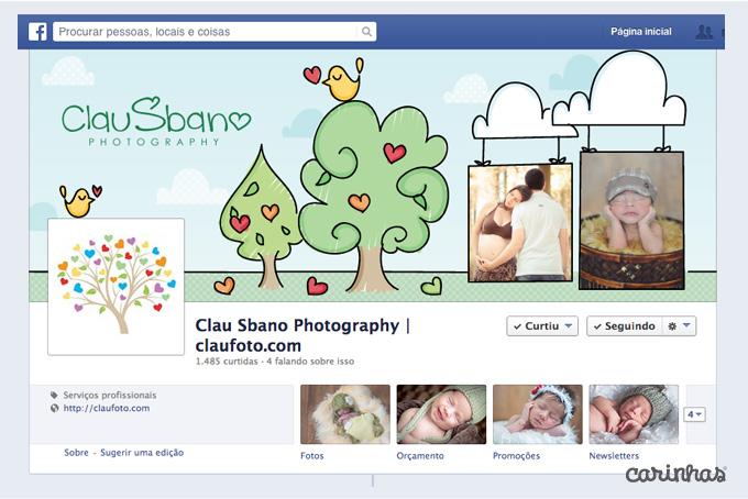 Arte para facebook cover para Clau Sbano