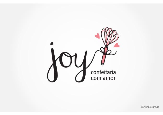 Marca para Joy - confeitaria com amor