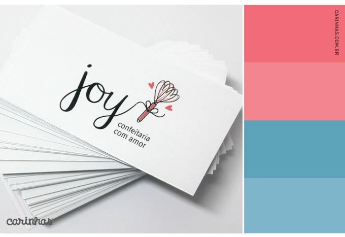 Joy confeitaria - marca no cartão de visitas