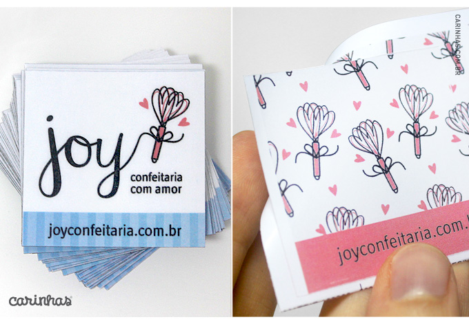 Imãs e adesivos para Joy Confeitaria