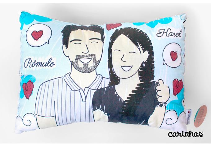 Ilustração Personalizada da Karol e do Rômulo